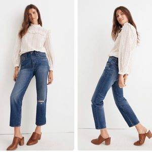 Madewell classic straight jean